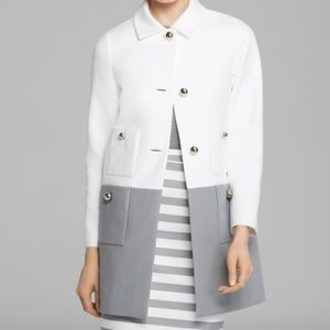 Kate Spade | Shipley White & Gray Cotton Coat